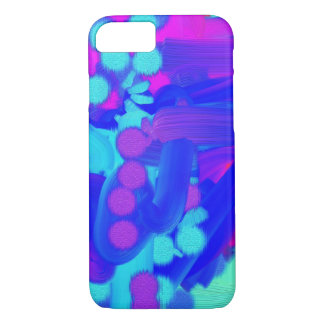Spots abstract painting purple blue pink teal iPhone 7 case