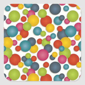 spots and dots square sticker