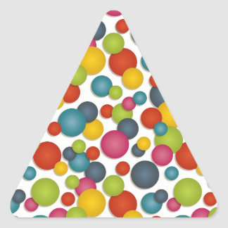 spots and dots triangle sticker