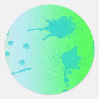spots blots round sticker