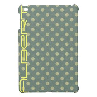Spots blue, beige editable cover for the iPad mini