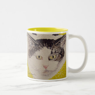 Spots Face Painting Two-Tone Coffee Mug