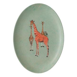 Spots & Feathers Platter Porcelain Serving Platter