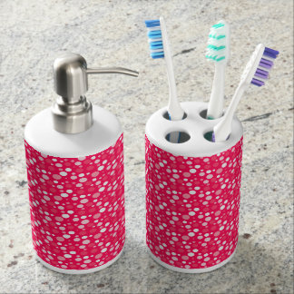 spots soap dispenser and toothbrush holder