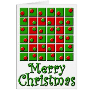 Spots & Squares Merry Christmas Greeting Card