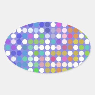 Spots Oval Stickers