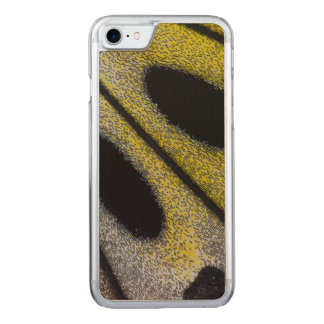 Spotted and yellow butterfly wing carved iPhone 7 case
