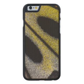 Spotted and yellow butterfly wing carved® maple iPhone 6 case