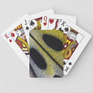 Spotted and yellow butterfly wing playing cards