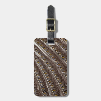 Spotted Argus pheasant feather Luggage Tag