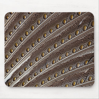 Spotted Argus pheasant feather Mouse Pad
