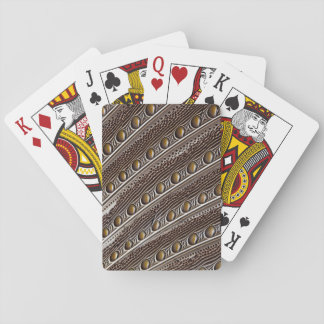 Spotted Argus pheasant feather Playing Cards