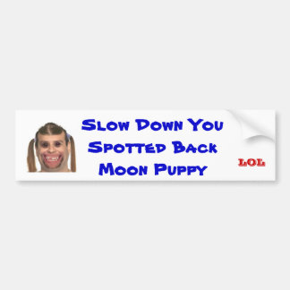 Spotted Back Moon Puppy Bumper Sticker