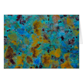 Spotted Blue Chrysocolla Jasper Card