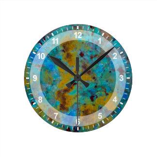 Spotted Blue Chrysocolla Jasper Clocks