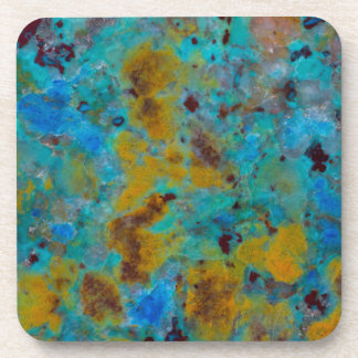 Spotted Blue Chrysocolla Jasper Coaster