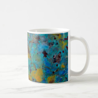 Spotted Blue Chrysocolla Jasper Coffee Mug