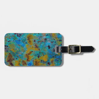 Spotted Blue Chrysocolla Jasper Luggage Tag
