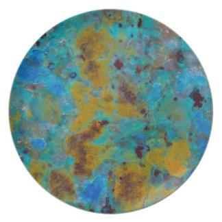 Spotted Blue Chrysocolla Jasper Plate