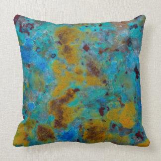 Spotted Blue Chrysocolla Jasper Throw Pillow