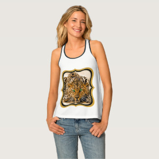 Spotted Bright green eye leopard looking at you Tank Top