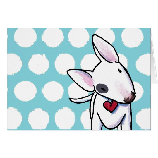 Spotted Bull Terrier Card