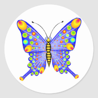 Spotted Butterfly 1 Classic Round Sticker