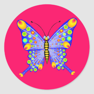 Spotted Butterfly 1 Stickers