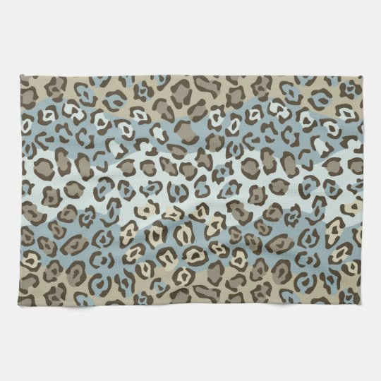 Spotted Cat Pattern Hand Towel