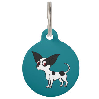 Spotted Chihuahua with Short Hair Pet ID Tags