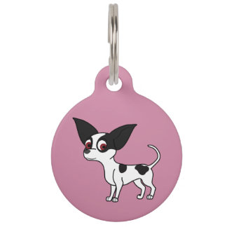 Spotted Chihuahua with Short Hair Pet Nametag