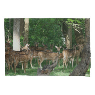 Spotted Chital Deer Pillow Case Pillowcase