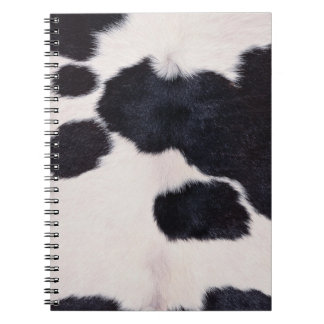 SPOTTED COW HIDE NOTEBOOKS