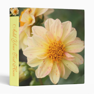 Spotted Dahlia 3 Ring Binder