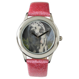 Spotted Dalamtian Dog Wrist Watch