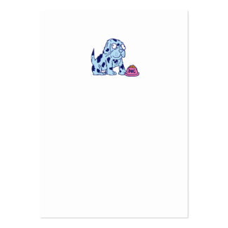 Spotted Dog Food Bowl Cartoon Business Card Template