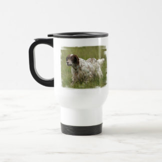 Spotted English Setter Dog Plastic Travel Mug