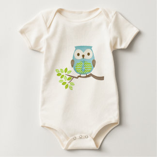 Spotted Executive Owl in Tree Baby Bodysuit