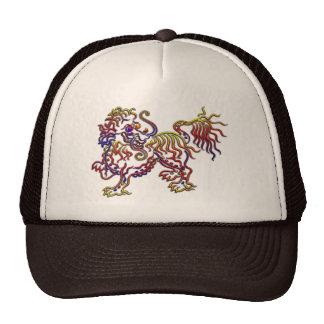 spotted fancy lion trucker hat