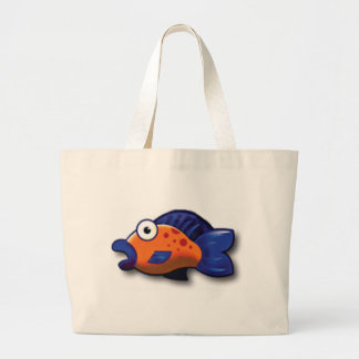 spotted fish large tote bag