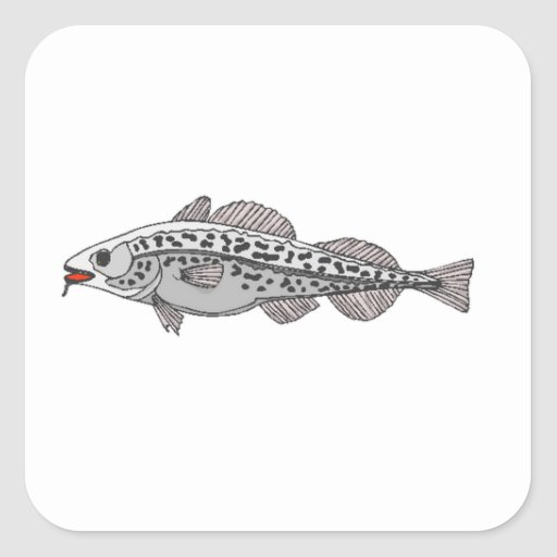 Spotted Fish Square Sticker