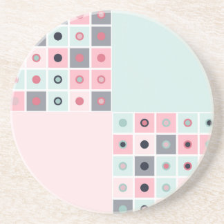 Spotted geometric pattern coaster