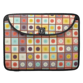Spotted geometric pattern MacBook pro sleeve