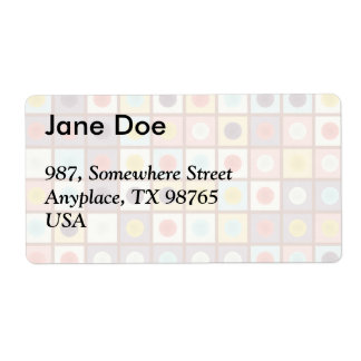 Spotted geometric pattern shipping label