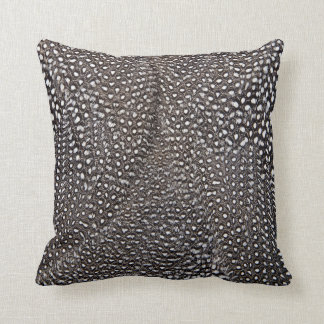 Spotted Guineafowl Feather Abstract Throw Pillow