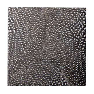 Spotted Guineafowl Feather Abstract Tile