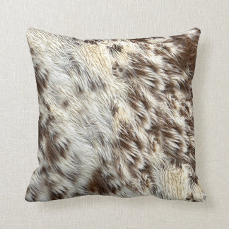 Spotted Horse / Cow Hide / Animal Fur Image Throw Pillow