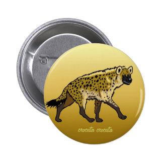 spotted hyena 2 inch round button