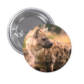 Spotted hyena: Savannah sunset 1 Inch Round Button