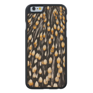 Spotted jungle cock feathers carved® maple iPhone 6 case
